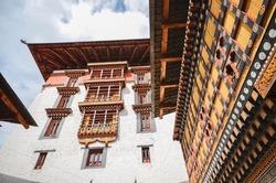 Traditional Bhutanese-Architecture of Tashichho Dzong in Thimphu, Bhutan