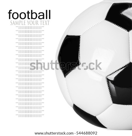traditional black and white football isolated on white background. delete text #544688092