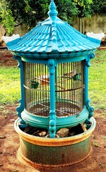 traditional blue bird cage in depok indonesia
