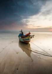 traditional boat of tuban fisherman east java indonesia
