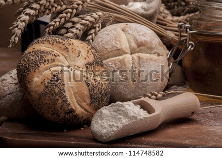 Traditional bread and rolls