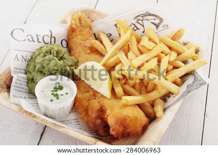 traditional british fish and...