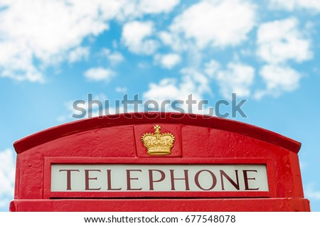 traditional, british telephone booth