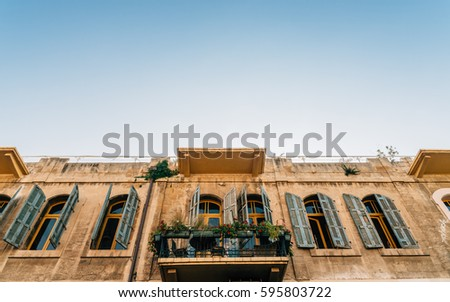 traditional buildings in jaffa  ...