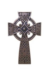 Traditional Celtic cross made of bronze