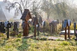 traditional cemetery in Maramures Romania