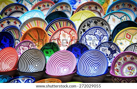 Shutterstock Traditional ceramic pottery in Essaouira, Morocco