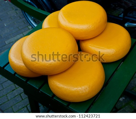 Traditional cheese round in Holland