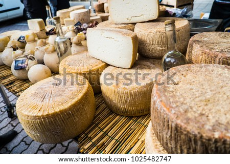 Traditional cheese with worms in Mamoiada, Nuoro, Sardinia, Italy