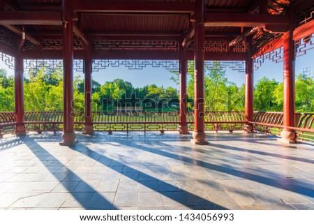 Traditional Chinese architecture in Wu Hou Ci, the temple for three kingdom hero Zhu Geliang. Zdjęcia stock ©