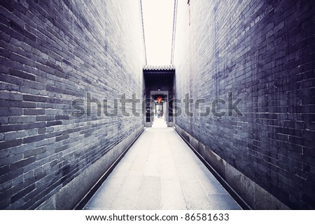 Traditional Chinese architecture, long corridor