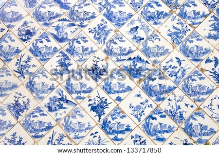 Traditional Chinese ceramic tiles