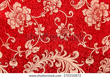 Free Photos Traditional Chinese Floral Print Pattern On Red Fabric Enchanting Chinese Fabric Patterns