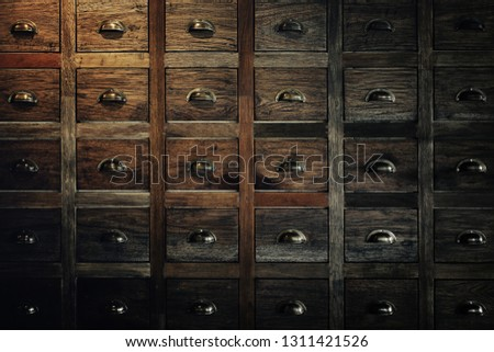Traditional Chinese medicine chest (drawer, cabinet) #1311421526