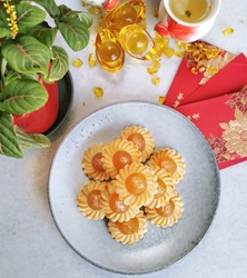 Traditional Chinese Pineapple Tarts Cookies