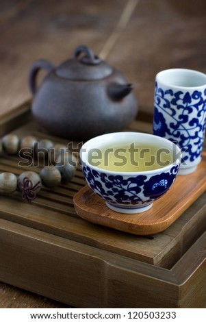 Traditional chinese tea ceremony accessories (tea pair)