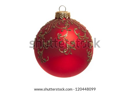 Traditional Christmas ball isolated on white background