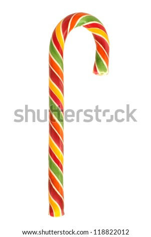 Traditional christmas candy isolated on a white background