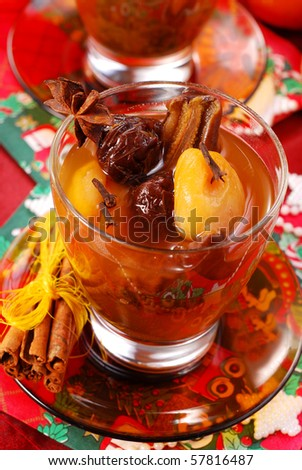 traditional christmas eve`s compote of dried fruits and spices