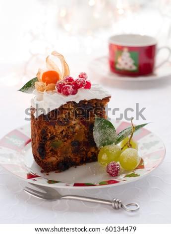 Fruit cake frosting