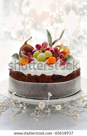 Layered Fruitcake With Creme Fraiche Frosting Recipe ...