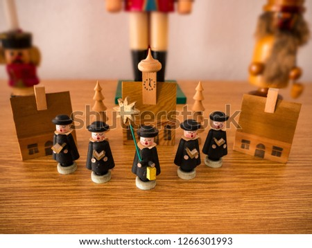 Christmas Carol Singers Figurines.Shutterstock Puzzlepix