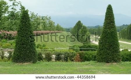 Traditional classical garden, Reggia di Venaria, Turin, Italy