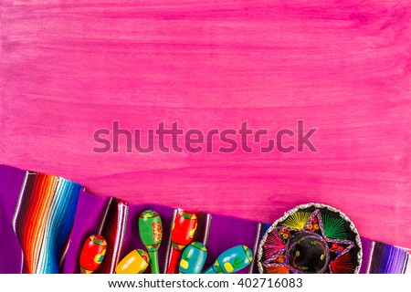 traditional colorful table...
