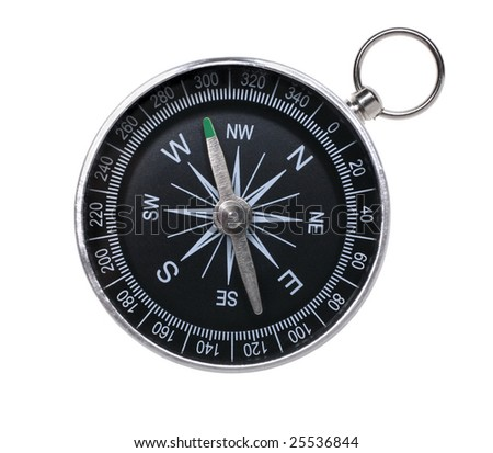 Traditional compass isolated on white background