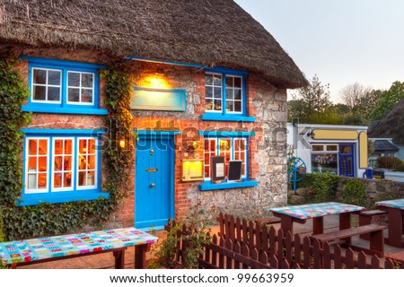 Traditional cottage house in Adare, Co. Limerick, Ireland