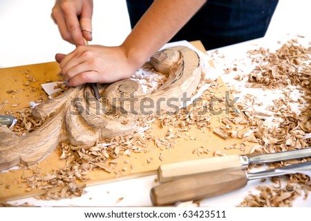Traditional craftsman carving