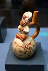 Traditional cultural figurine in the museum, La Paz, Bolivia