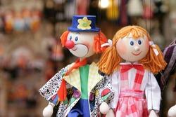 Traditional Czech souvenirs - wooden dolls