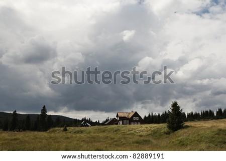 Traditional Czech village in mountains - Jizerka, Czech Republic
