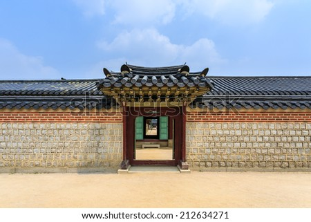 Traditional door and wall korean style