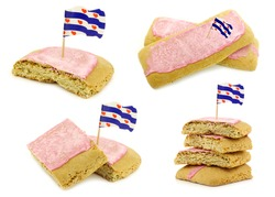 traditional Dutch and Frisian pink glazed pastry called