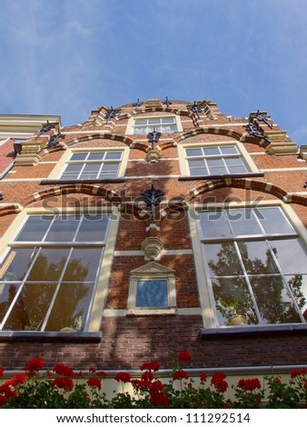 traditional dutch house in the historical city of Delft