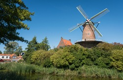 Traditional dutch windmill called