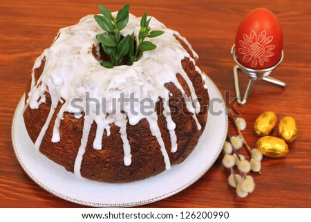 Traditional Easter cake with decoration