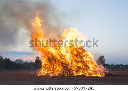 Traditional easter fire in Holland