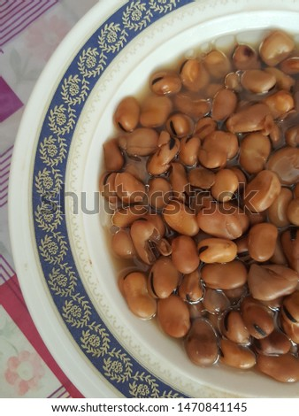 traditional Egyptian fava beans Fool medames in a plate