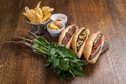 traditional Egyptian food Alexandrian liver sandwich and sausage