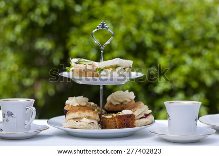 Traditional English afternoon tea #277402823