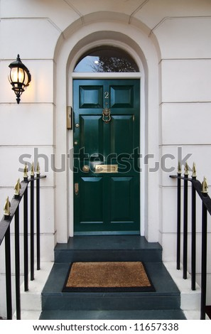 Traditional english door in London