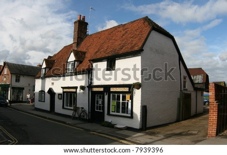 traditional English groceries shop in village