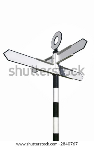 Traditional English village signpost, blank for your own text.