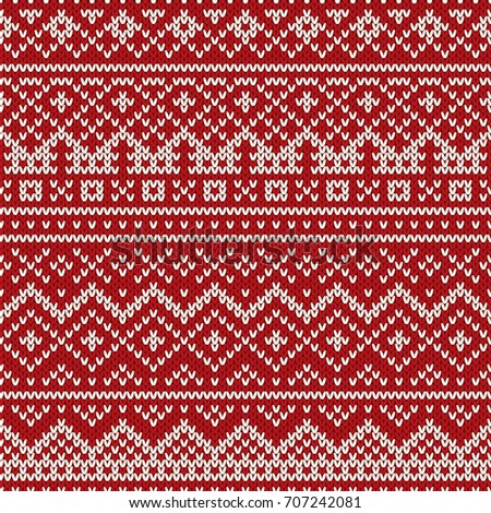 Royalty-free Winter Holiday Seamless Knitting… #504109750 Stock ...