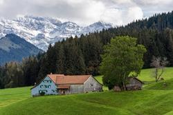 Traditional farm house, Appenzell/Switzerland - September 28, 2020
