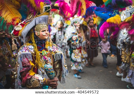 Traditional festival and colors in Chichicastenango, Guatemala