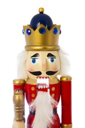 Traditional Figurine Christmas Nutcracker Wearing A Old Military Style Uniform